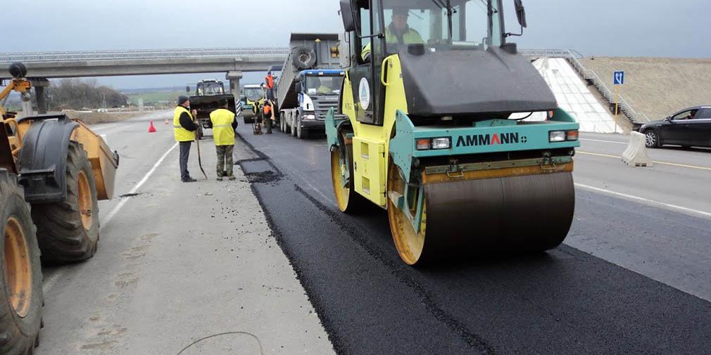 фото строительство дороги